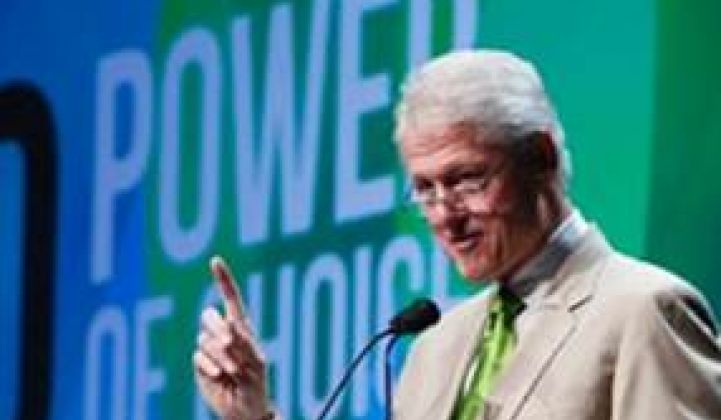 "Bill Clinton on ""Visibly Tattooed"" Solar Workers, Unions, and Wind"