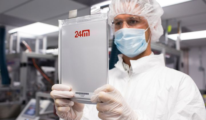 24M Raises More Money to Fund Advanced Lithium-Ion Manufacturing
