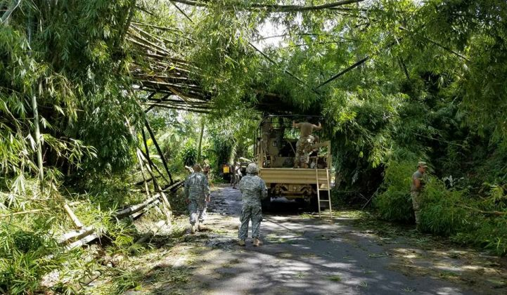 Cleanup and electricity restoration efforts in Puerto Rico are ongoing.