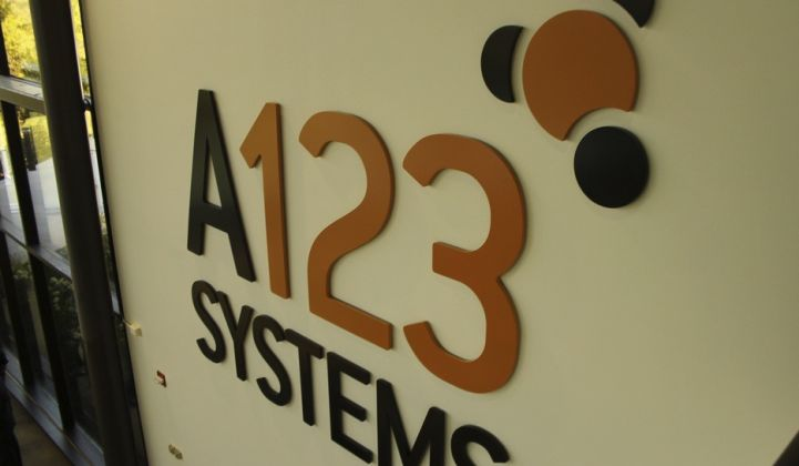 "A123 ""Temporarily"" Lays Off 125 in Michigan"