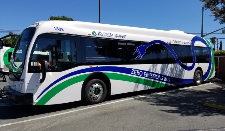 Tri Delta Transit brought in Amply to make its charging operations more cost-effective. (Credit: Amply Power)