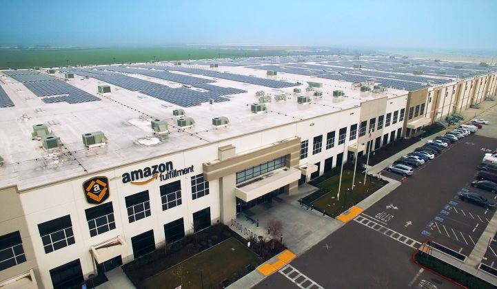 Connected: Amazon delivers from 80 fulfillment centers in North America today. (Credit: Amazon)