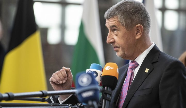 Czech PM Andrej Babis thinks the EU's Green Deal is a distraction right now. (Credit: European Union)