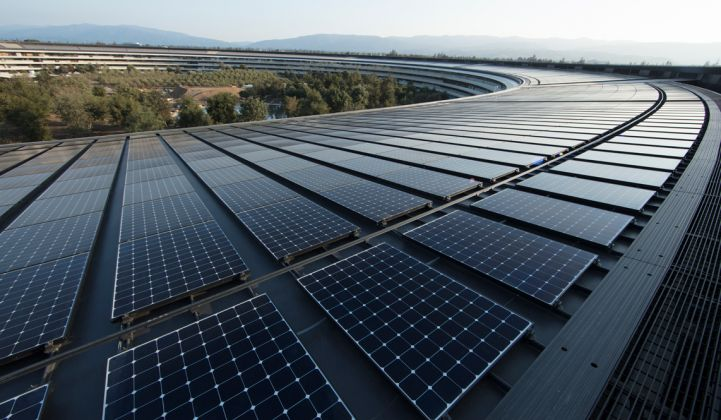 Apple reached its own all-renewables target last year.