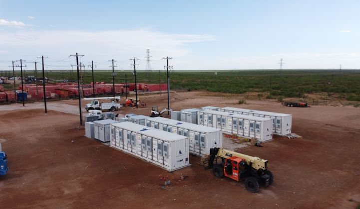 Broad Reach Power switched on this battery in Odessa earlier this year for the Texas grid. (Photo: BRP)