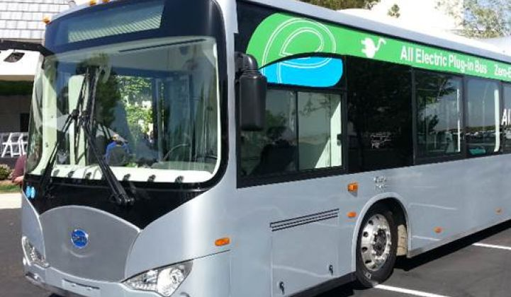BYD Launches Electric Bus Plant With Call for Utility Rate Redesign