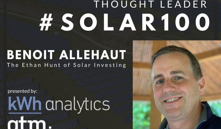 #Solar100's Benoit Allehaut: The Ethan Hunt of Solar Investing
