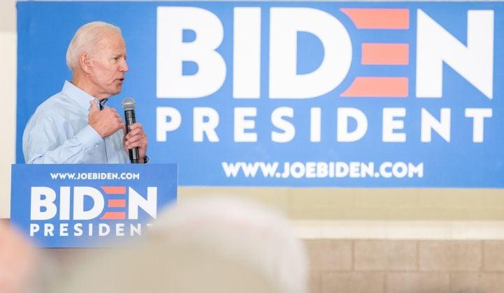 Biden Pledges $2T in Clean Energy and Infrastructure Spending