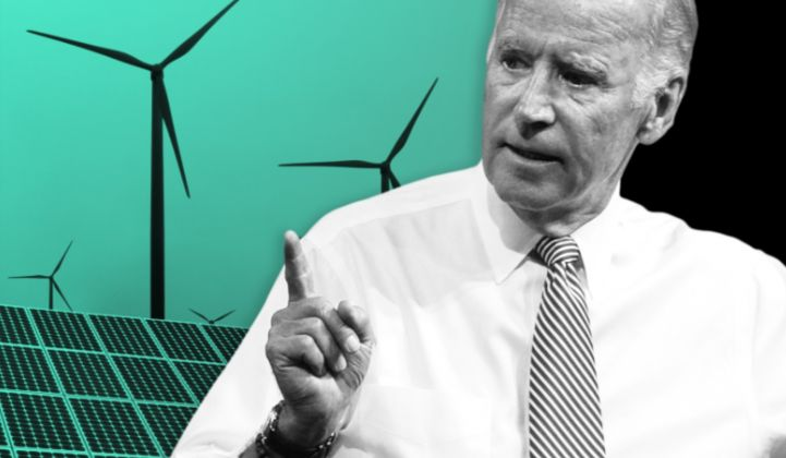 Joe Biden has pledged to set the U.S. on a course to completely decarbonize its electricity sector by 2035. (Image: GTM)
