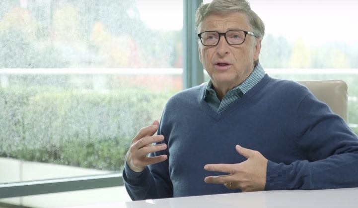 Bill Gates announced Breakthrough Energy Ventures' initial focus areas for investment in Paris this week.