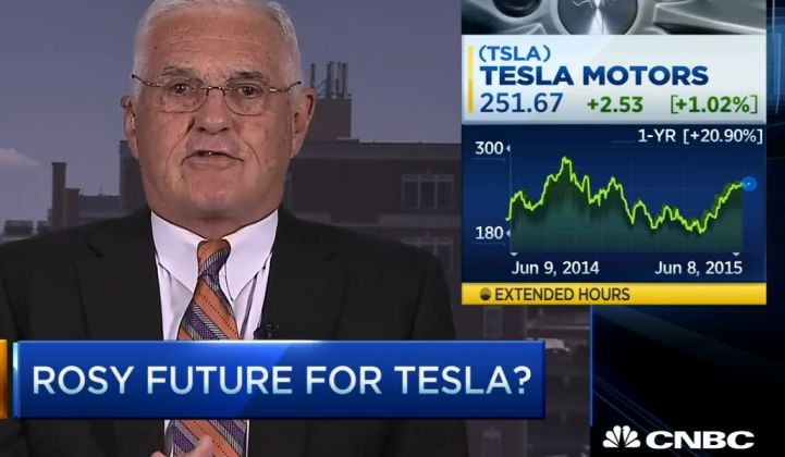 Former General Motors Executive Bashes Tesla's Storage Plan: 'Boy, I Don't See it'