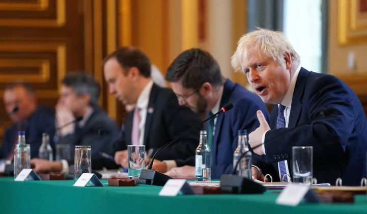 Boris Johnson's 10-point plan may lack detail, but it sets the course for efforts to achieve net-zero status by 2050. (Credit: Pippa Fowles/Number 10)