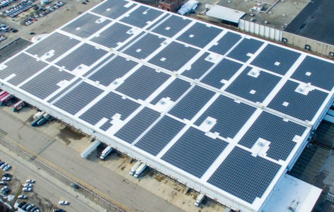 A Borrego Solar installation at the University of Massachusetts.