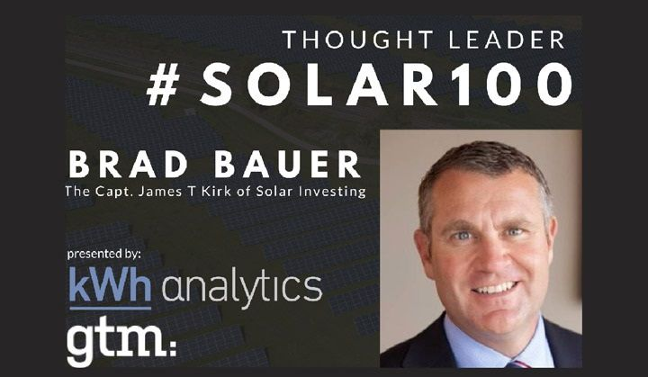 #Solar100's Brad Bauer: The Captain James T. Kirk of Solar Finance