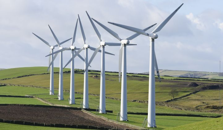 It's been a slow summer for U.K. onshore wind farms.