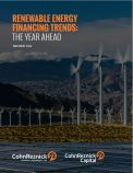 Renewable Energy Financing Trends: The Year Ahead