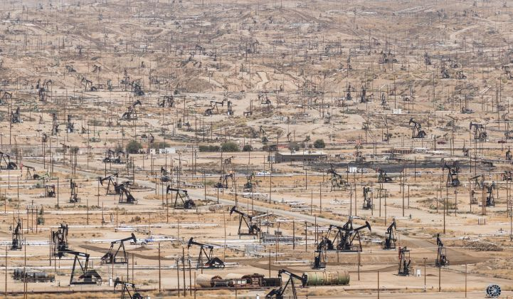 Not-so-green dreams: An oil field in Kern County, California.