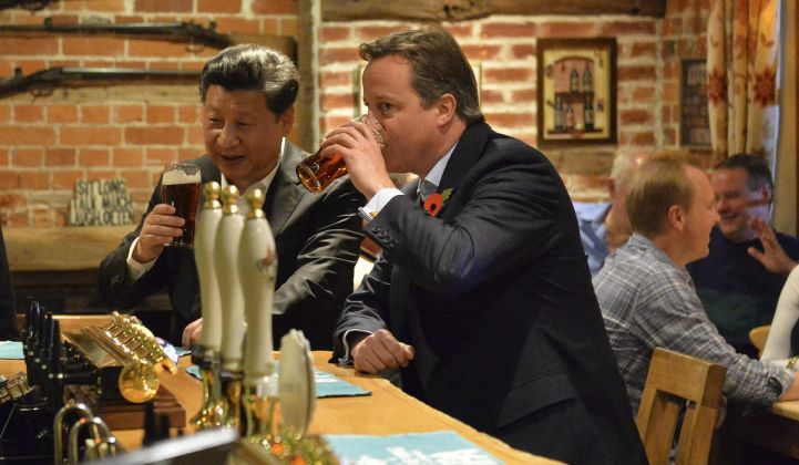 President Xi and former Prime Minister David Cameron in less fraught times. (Credit: Georgina Coupe)