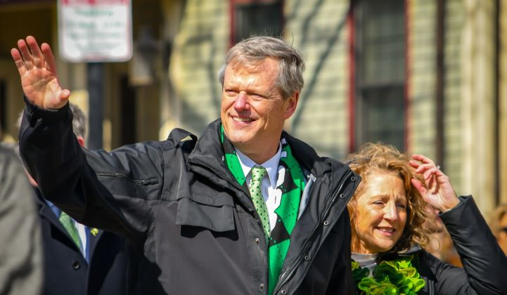 Charlie Baker, Massachusetts' Republican governor, has been a critical supporter of offshore wind.