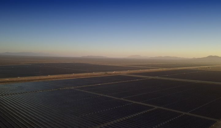 The Rosamond Central solar project in Kern County, Calif., one of seven renewable and storage projects in Clearway and Hannon Armstrong's joint investment portfolio. (Credit: Clearway Energy Group)