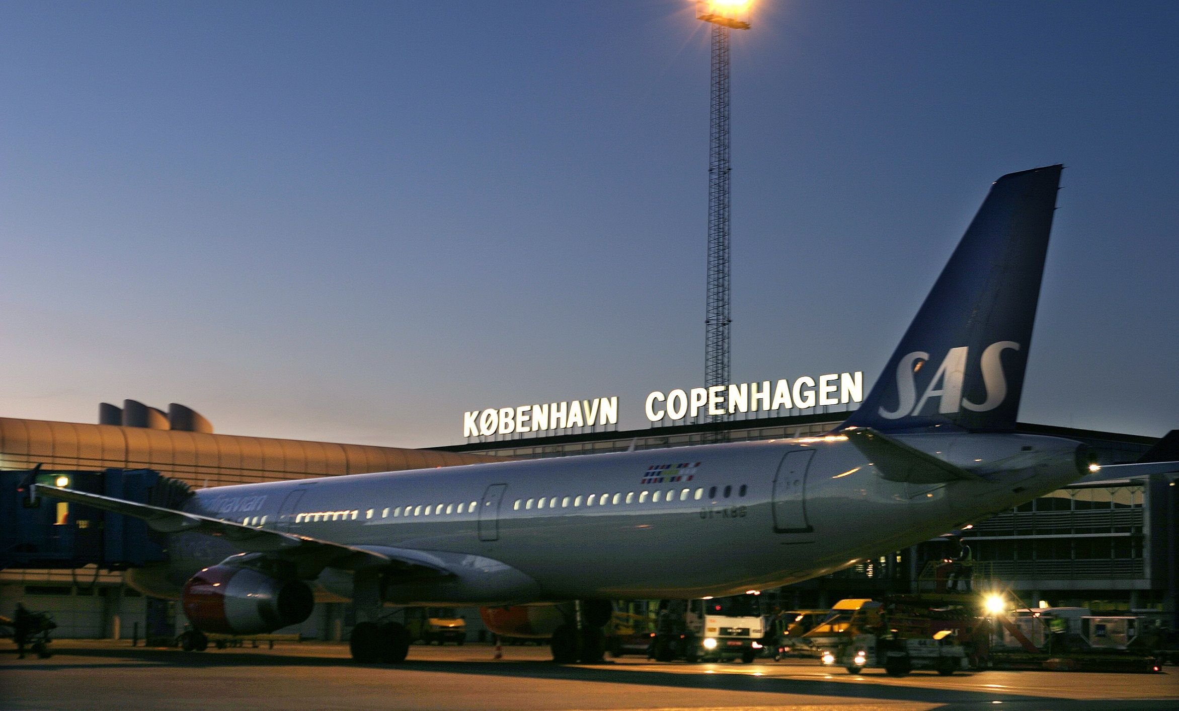 Shipping giant A.P. Moller-Maersk and airline SAS are partners for the 10-megawatt pilot. (Credit: Copenhagen Airport)