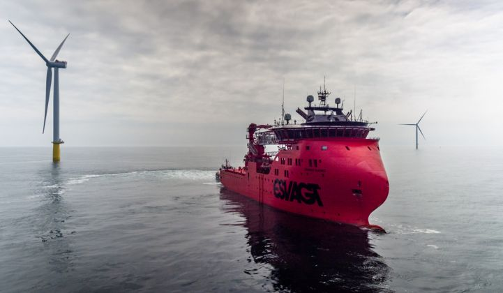 Floating systems could open new offshore wind markets around the world. (Credit: Jan Arne Wold/Wold Cam/Equinor)