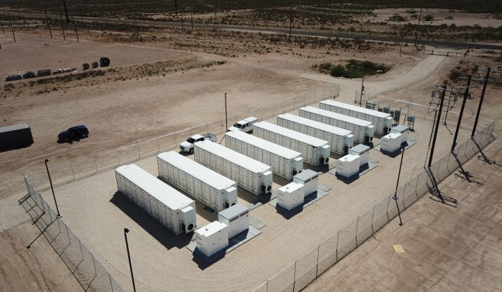 Powin's battery systems power this Texas project, developed by Key Capture Energy. (Photo courtesy of Powin Energy)