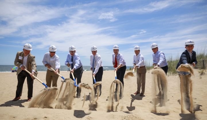 Dominion recently broke ground on its first offshore wind project. (Credit: Dominion)