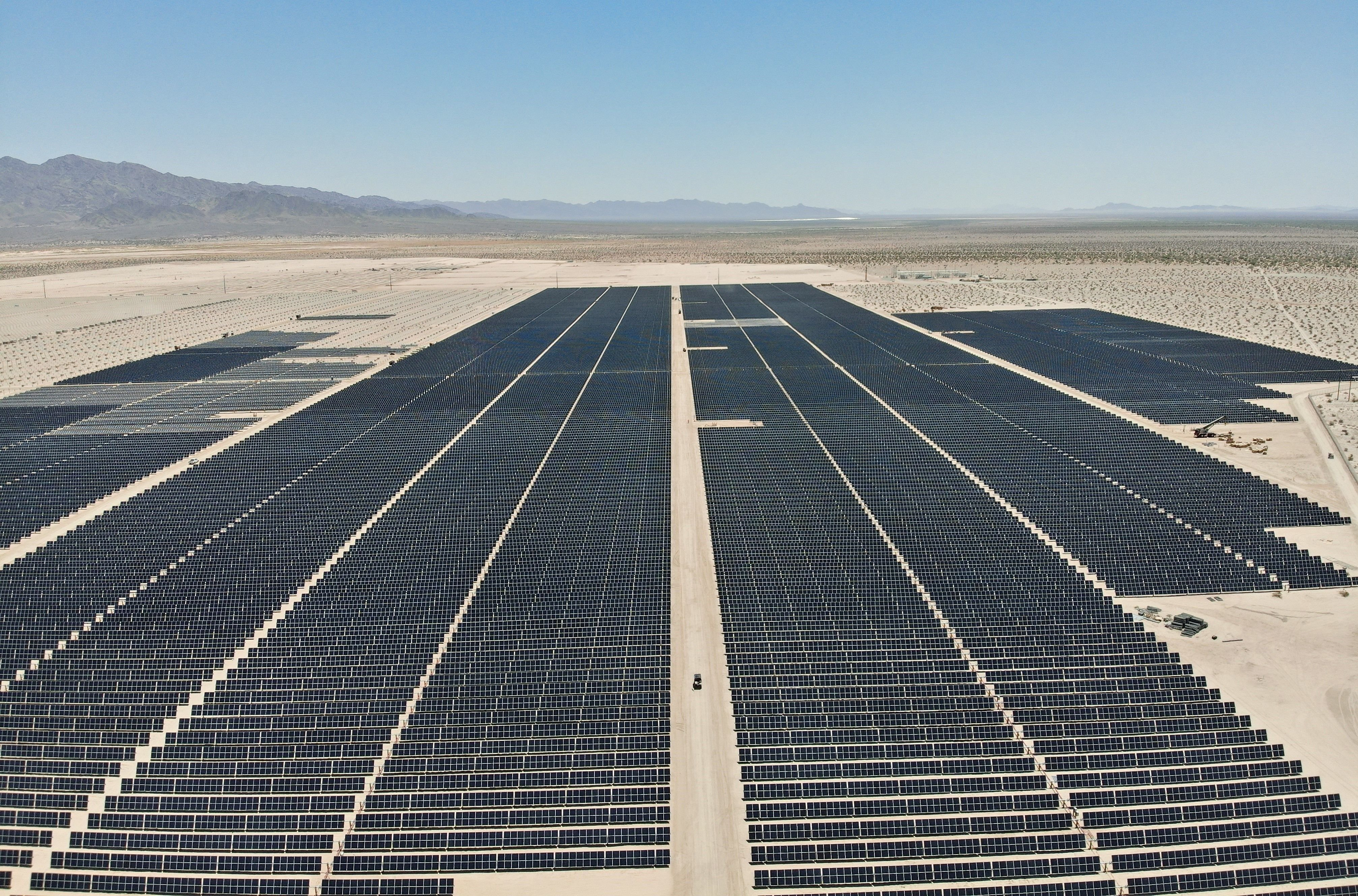 Madar will invest in EDF's Desert Harvest solar projects going up in California. (Image: EDF)
