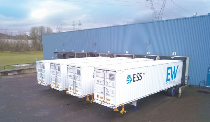ESS' recent cash injection is a bright spot for flow batteries.