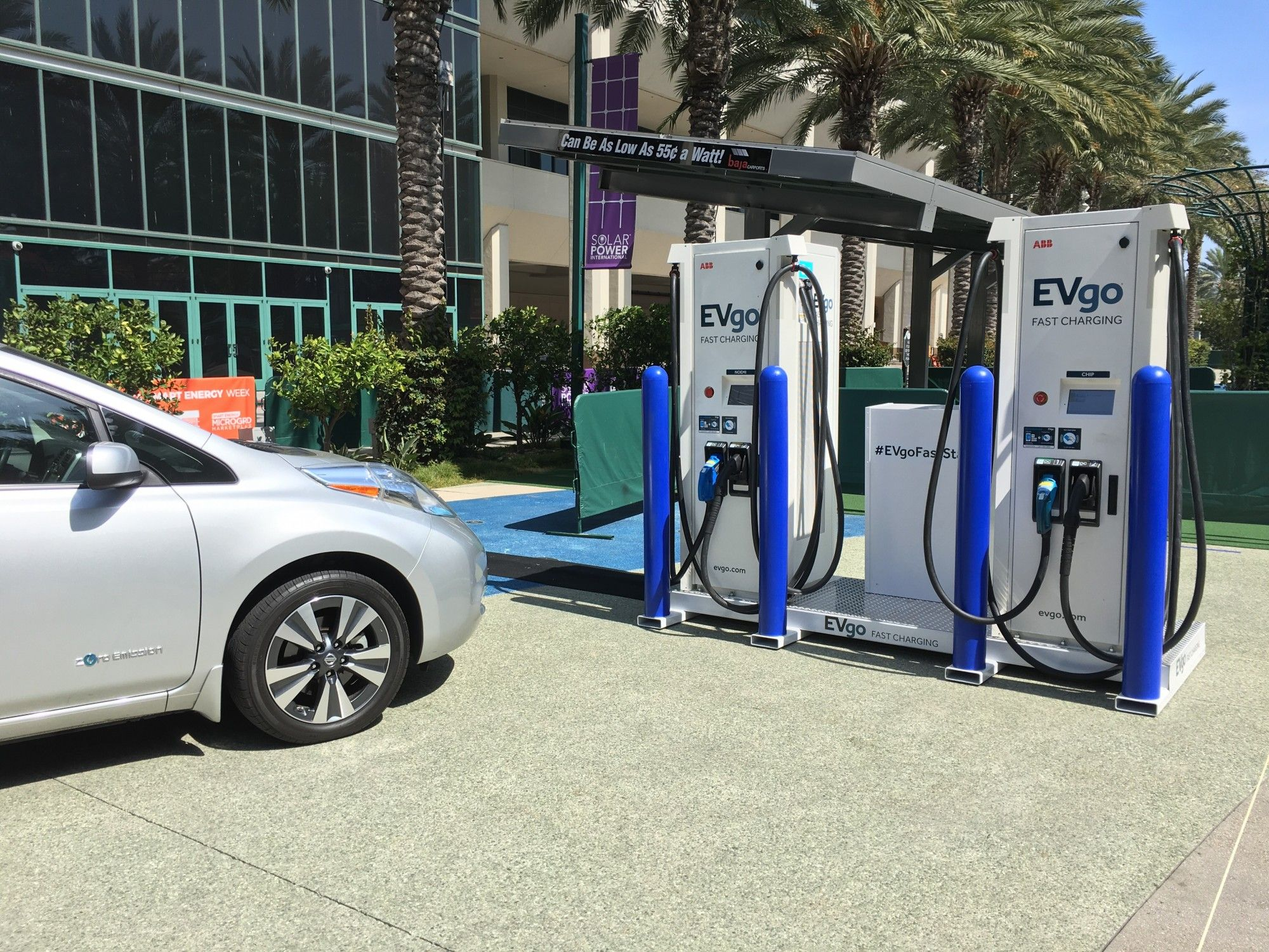 EVgo is seeking public markets to finance the growth of its existing network of EV fast-charging stations across the United States. (Credit: EVgo)
