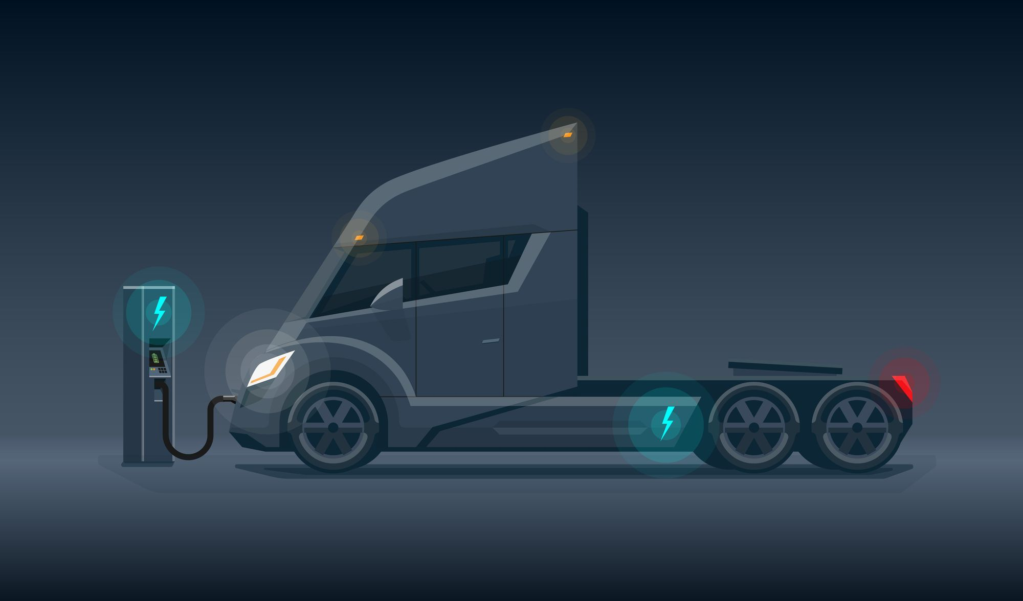 Many trucks are parked for more than six hours a day, which means they could rely on Level 2 chargers.