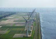 A wind farm along the Dutch coast.