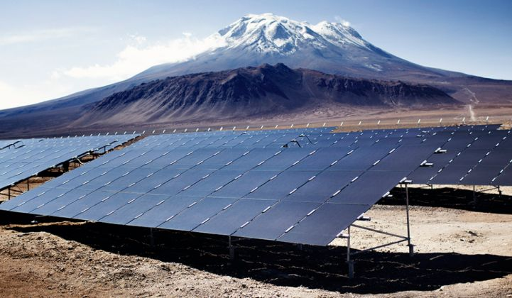 Solar power prices in Chile have become highly competitive.