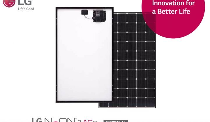 Enphase LG AC solar module for rooftop solar