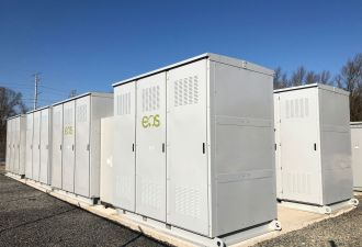 A 300 kW/1,200 kWh installation in New Jersey is one of the early projects Eos uses to show market traction. (Photo: Eos)