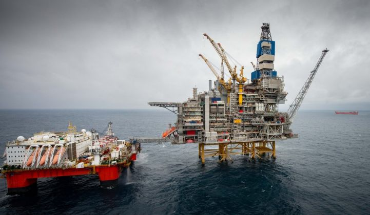 Equinor's Mariner platform in the North Sea. (Credit: Equinor/Abermedia/Michal Wachucik)