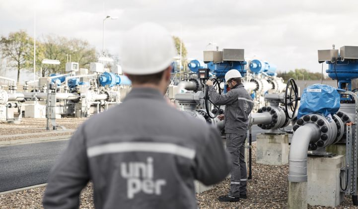 Germany's Uniper plans to convert some of its gas storage and generation facilities to hydrogen. (Credit: Uniper)