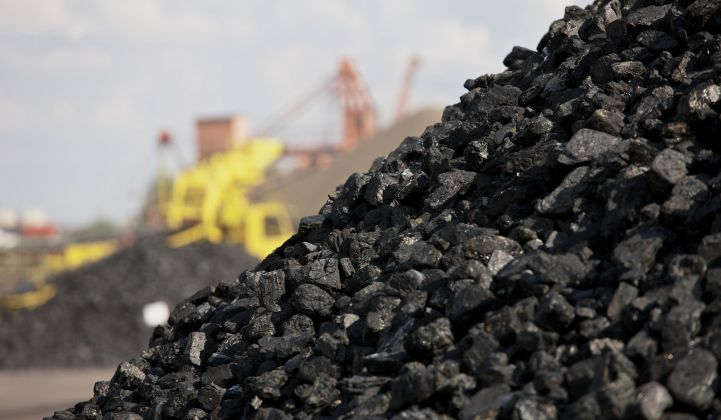 Pile of coal to represent FERC decision on grid resilience.