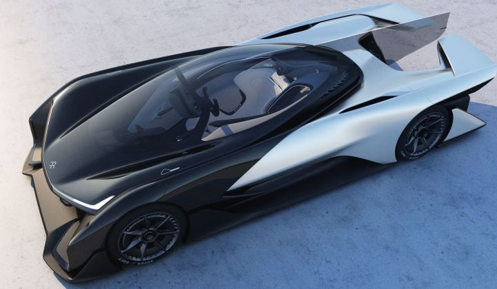 After Much Hype Faraday Future Unveils Electric Race Car Concept At Ces Now What Greentech Media
