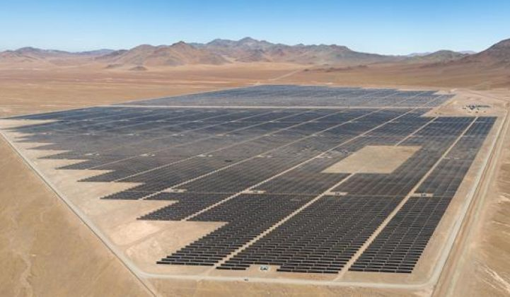 First Solar's 141MW Luz del Norte plant in Chile is tapping a new revenue stream: grid services.