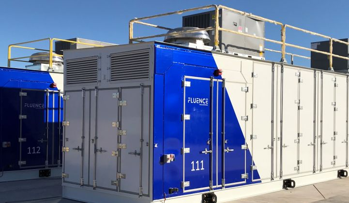 Containerized storage systems like the one pictured will help U.K. Power Reserve deliver fast-response grid services.