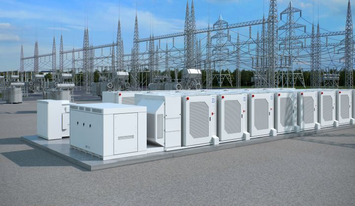 Fluence's cube design is intended to speed up delivery for large-format grid batteries like the system illustrated here. (Image credit: Fluence)