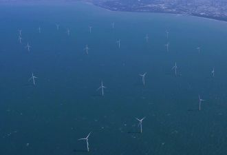 Formosa 1, Taiwan's first offshore wind farm. The country wants 15.5 gigawatts by 2035. (Credit: Ørsted)