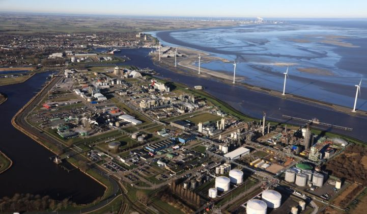 Eemshaven is the focus of plans for a green hydrogen cluster in the Netherlands. (Credit: Groningen Seaports)