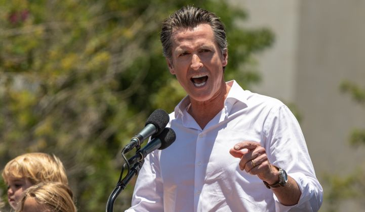 What's Governor Newsom's plan for dealing with the state's climate and energy challenges?