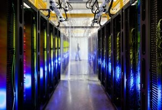 Data center operators are driving demand for renewable power around the world. (Credit: Google)