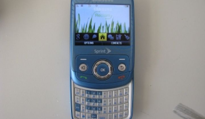 Product Review: Samsung's Green Reclaim Phone