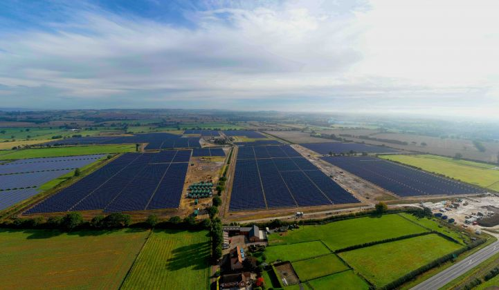 Gridserve hopes to use the same model on the rest of its U.K. solar pipeline. (Credit: Gridserve)