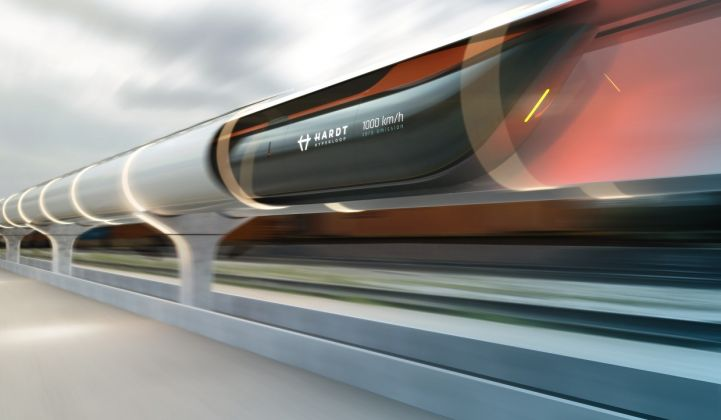 At least six companies are developing hyperloop projects in Europe. (Credit: Hardt Hyperloop)